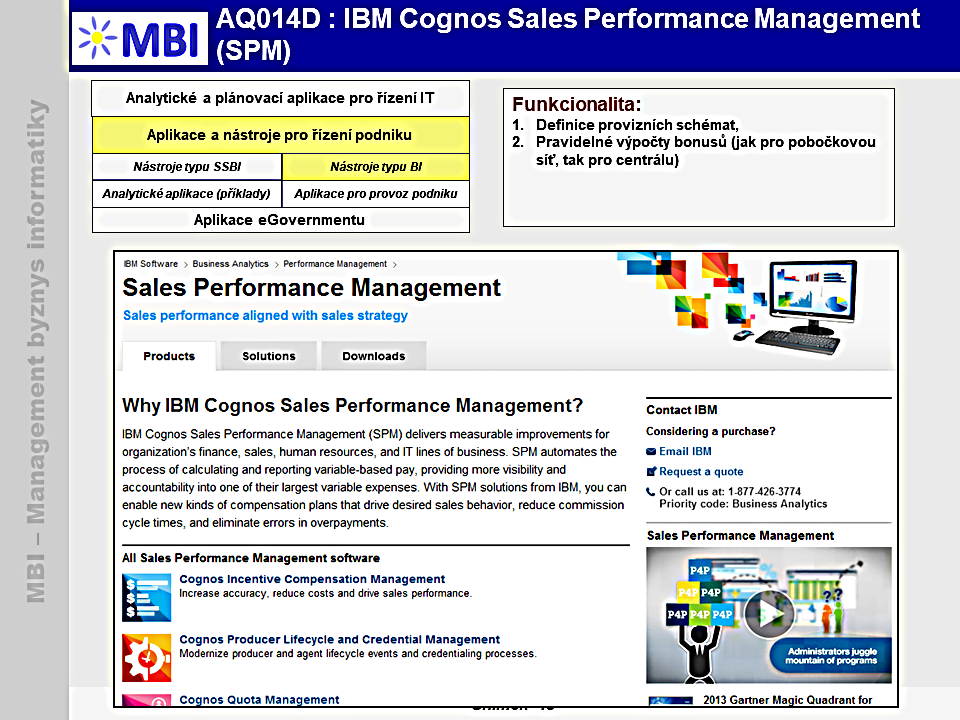 IBM Cognos Sales Performance Management (SPM)